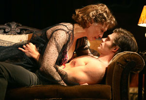 Jan Maxwell and Chris Carmack in Entertaining Mr. Sloane