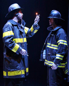 Gregory Konow and Ken King in Farenheit 451