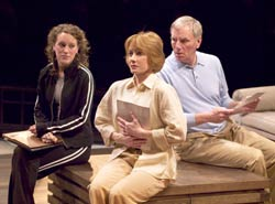 Samantha Soule, Sandy Duncan, and Ned Schmidtke  in the Old Globe production of A Body of Water