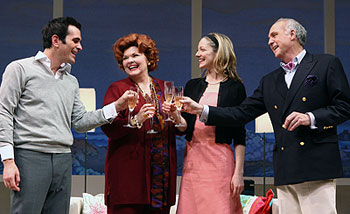Ty Burrell, Debra Monk, Judy Greer, and Lawrence Pressmanin Show People