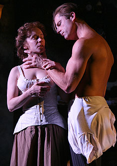 Amelia Campbell and Maxwell Caulfield