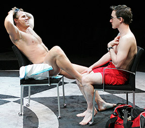 Erik Heger and Carson Elrodin Based on a Totally True Story (Photo © Joan Marcus)