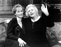 Uta Hagen (r) with Laila Robbinsin Nicholas Wright's Mrs. Klein(Photo by Carol Rosegg, courtesy of www.BroadwayArchive.com)