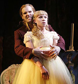 Hugh Panaro and Allison Fischer in Lestat(Photo © Paul Kolnik)