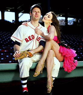 George Merrick and Shannon Lewisin a publicity photo for Damn Yankees