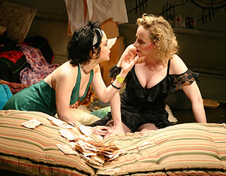 Meredith Zinner and Laila Robins in Sore Throats(Photo © Gerry Goodstein)