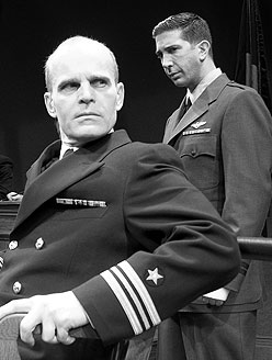 Zeljko Ivanek and David Schwimmer in The Caine Mutiny Court-Martial(Photo © Scott Landis)