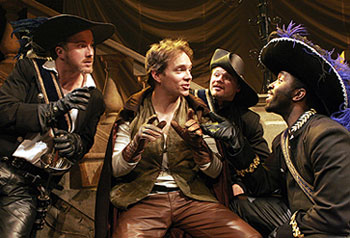 Timothy Carter, Chad Hoeppner, David Foubert,  and Cedric Hayman in The Three Musketeers