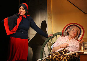 Christine Ebersole and Mary Louise Wilson in Grey Gardens