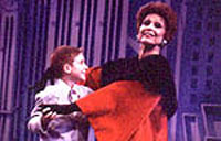 Lawrence as Mame, withMax Tuma as Young Patrick(Photo by Bob Vergara)