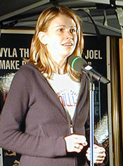 Sutton Foster inStars in the Alley 2003(Photo © Michael Portantiere)