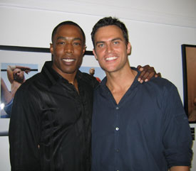 Michael McElroy and Cheyenne Jackson