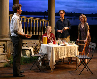 Austin Lysy, Mamie Gummer, Tony Goldwyn, and Kate Burton