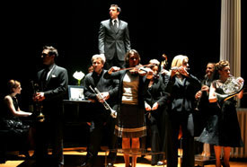 Raul Esparza and the cast of Company
