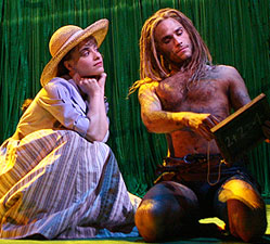 Jenn Gambatese and Josh Strickland in Tarzan(Photo © Joan Marcus)