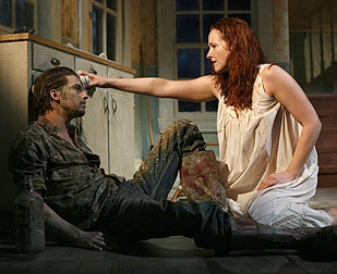 Logan Marshall-Green and Katie Finneran in Pig Farm