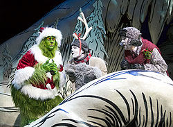 A scene from the Old Globe production of How The Grinch Stole Christmas