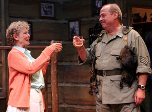 Alda Cortese and Mark Lazar in The Foreigner