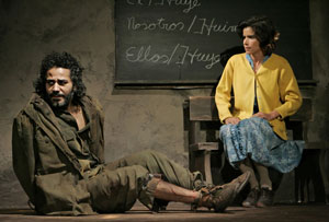 John Ortiz and Patricia Velasquez in School of the Americas