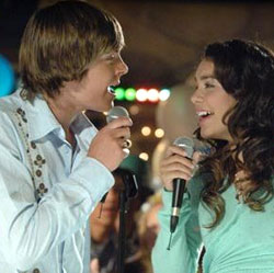 Zac Efron and Vanessa Anne Hudgens  in High School Musical