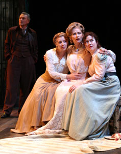 Edmond Genest, Erin Partin, Laila Robins,and Alison Weller in The Cherry Orchard