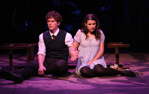 Jonathan Groff and Lea Michele in Spring Awakening