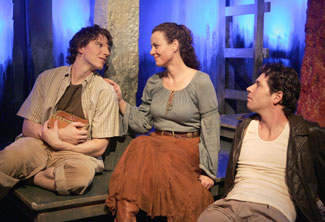David Eldon, Laura Philbin Coyle, and James Barbour in Lizard