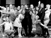 Robert Bartley (c) and the cast of Company(Photo by Richard Feldman)
