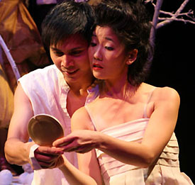 Alexis Camins and Jennifer Chang in The Dispute