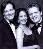Eric Comstock, Hillary Cole, and Christopher Gines (l to r)from Our Sinatra