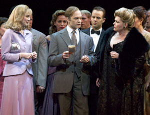 Jill Paice, David Hyde Pierce, Noah Racey, and Debra Monk
