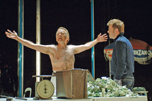 Andrew Weems and Nick Westrate in The Merchant of Venice (© Kevin Berne)