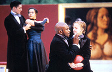 Keith David as Leontes (kneeling with child)Photo: Michal Daniel