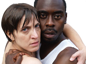 James Ijames and Leah Walton in Voices Underwater at the Philadelph