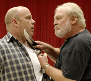 Steve Pickering and Stacy Keach