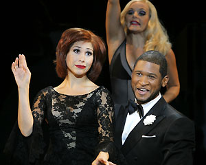 Bianca Marroquin, Bryn Dowling, and Usher in Chicago