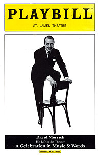The Playbill for the memorial service:David Merrick's final production