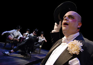 Brad Oscar and company in Cabaret