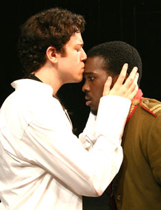 Dan Kohler and Joshua Henry in Godspell(© Gerry Goodstein)