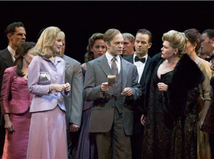 Jill Paice, David Hyde Pierce, and Debra Monk in Curtains