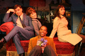 Robert Cuccioli, Gay Marshall , Rodney Hicks  and Natascia Diaz in Jacques Brel...