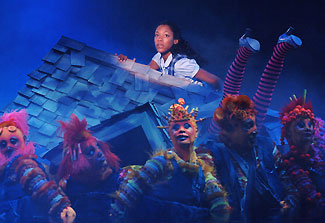 Nikki M. James and company in The Wiz