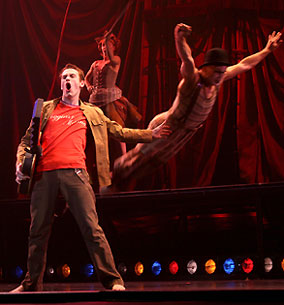 Michael Arden, Lisa Gajda, and Charlie Neshyba-Hodges