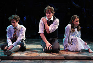 John Gallagher, Jr., Jonathan Groff, and Lea Michelein Spring Awakening(© Monique Carboni)