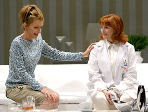 Jill Clayburgh and Blair Brown in The Clean House