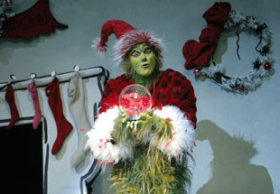 Patrick Page in the title role of Dr. Seuss' How the Grinch Stole Christmas: The Musical