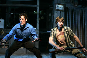 Ryan Ward and Brandon Wardell in Evil Dead: The Musical