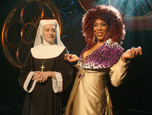 Elizabeth Ward Land and Dawnn Lewis in Sister Act