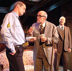 Mark Ulrich, Peter Haig, and Dan Leonard in The Price(© Shel Shanak)