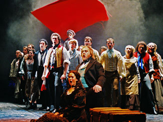 A scene from Les Misérables